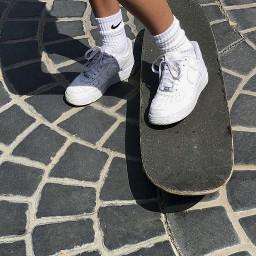 aesthetic whiteaesthetic tumblr shoes skate