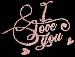 iloveyou love heart rosegold glitter freetoedit