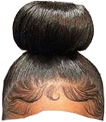 girlhair girl hair bun edge freetoedit