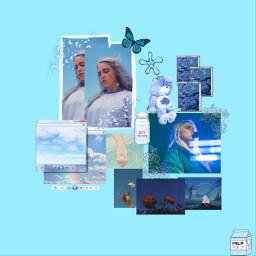 blue billieeilishedits billieeilishfan pastelblueaesthetic aesthetic freetoedit