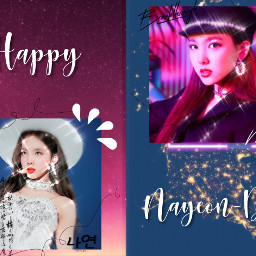 imnayeon twice nayeon happynayeonday happybirthdaynayeon freetoedit