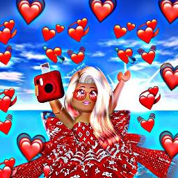 freetoedit roblox rbxroyalhigh love red