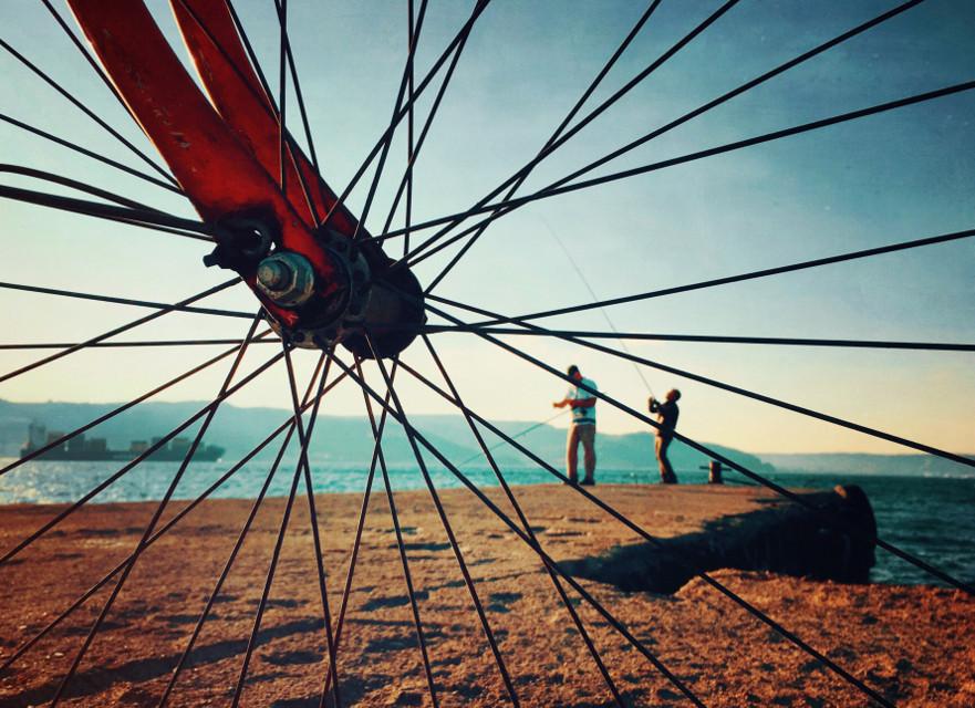 #bicycle #fishing #seaside #sunnydays