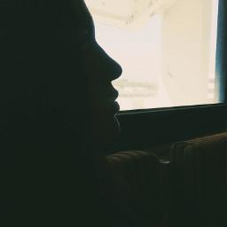 silhouette girl profile sideprofile shadows freetoedit