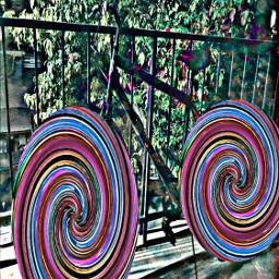 freetoedit spinning wheels colorful bike