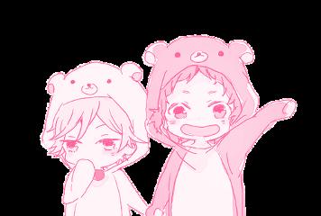 cute pink kawaii anime boy freetoedit