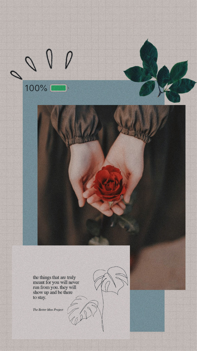 #freetoedit #flower #flowers #rose #hands #battery #quote