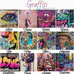 graffiti wallart art horoscope horoscopesigns
