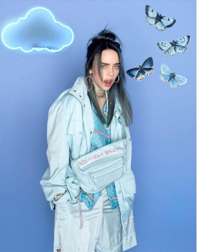#billie eilish #blue #freetoedit