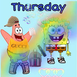 spongebob luxus gucci gang bestfriendsforever freetoedit