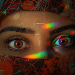 freetoedit rainbowfilter eyecolor night