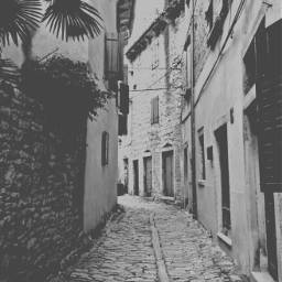 pcblacknwhite croatia adriaticsea labin alley blackandwhite