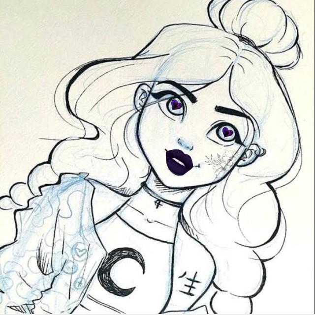 #freetoedit #cute #beautifulgirl #beautiful #purple #drawing #natural #naturalbeauty
