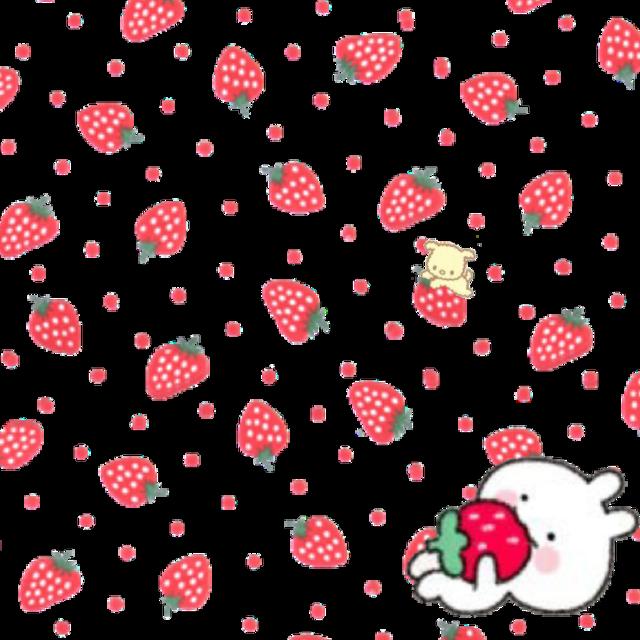 #freetoedit #strawberry #strawberrybackground #background #interesting #cute #puppy #bunny #red #nature #summer #art