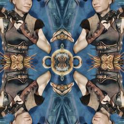 freetoedit steampunk stylish mirroreffect woman