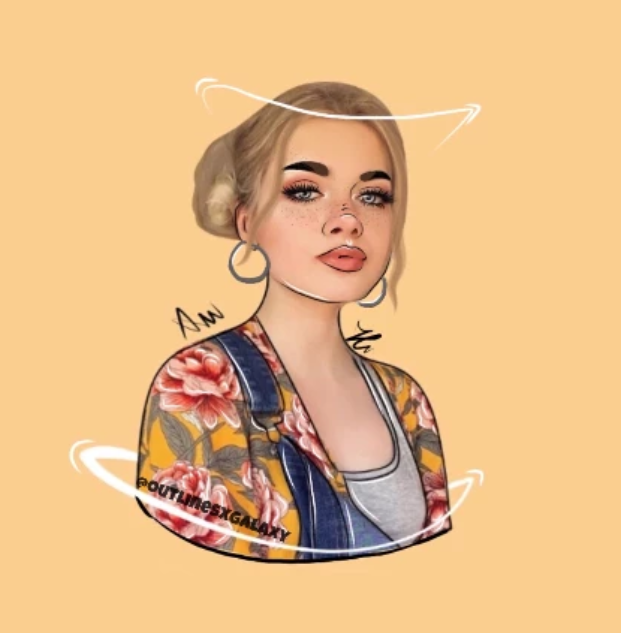 ✨✨✨    Collab w @outlinesxgalaxy ,love this 😍😍😍 follow her she is so talented!!! She did the hair and some details and I did the face🖤