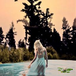 vipshoutout nature girl water fantasyworld freetoedit