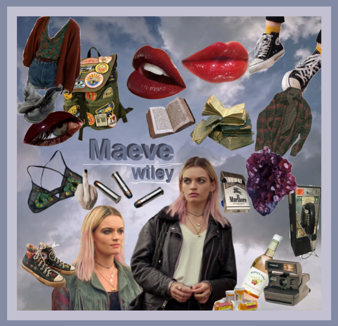 Ewwwohnoivemadeitlooklikeamess. maeve i am so sorry I do love you but I just couldn't make this look good.... #maevewiley #maeve #sexeducation #moodboard