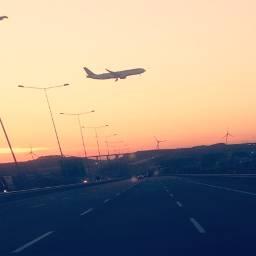 freetoedit highway sunset plane perspectivetool