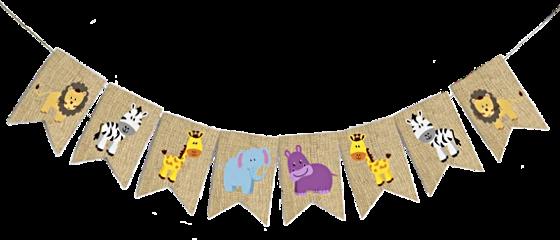 freetoedit burlap flag pennant animals