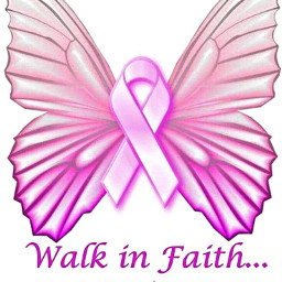 freetoedit pink ribbon butterfly breastcancerawareness