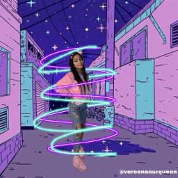 vereena streetstyle purpleswirl purple pink freetoedit