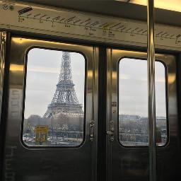 aesthetic paris france eiffeltower trainstation