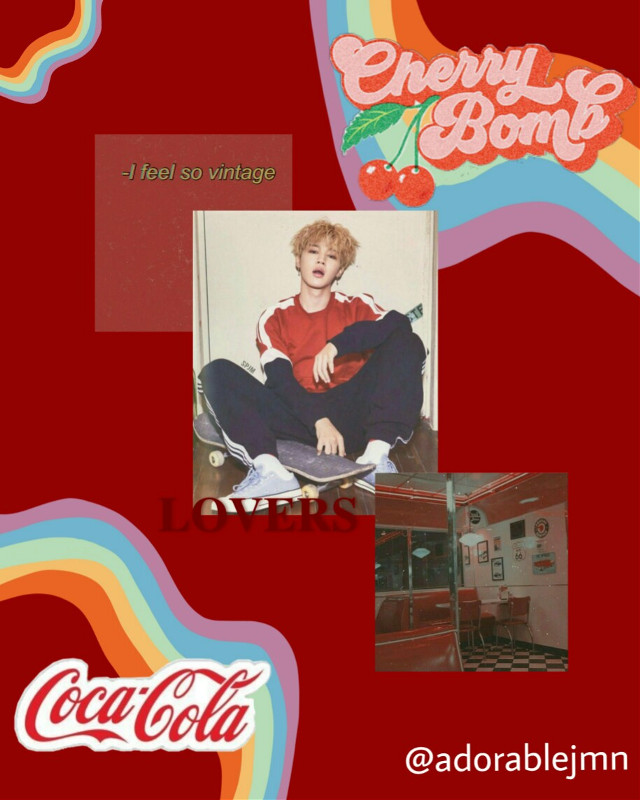 #freetoedit #jimin #bts #cocacola #red #redaesthetic #vintage #redvintage #parkjimin