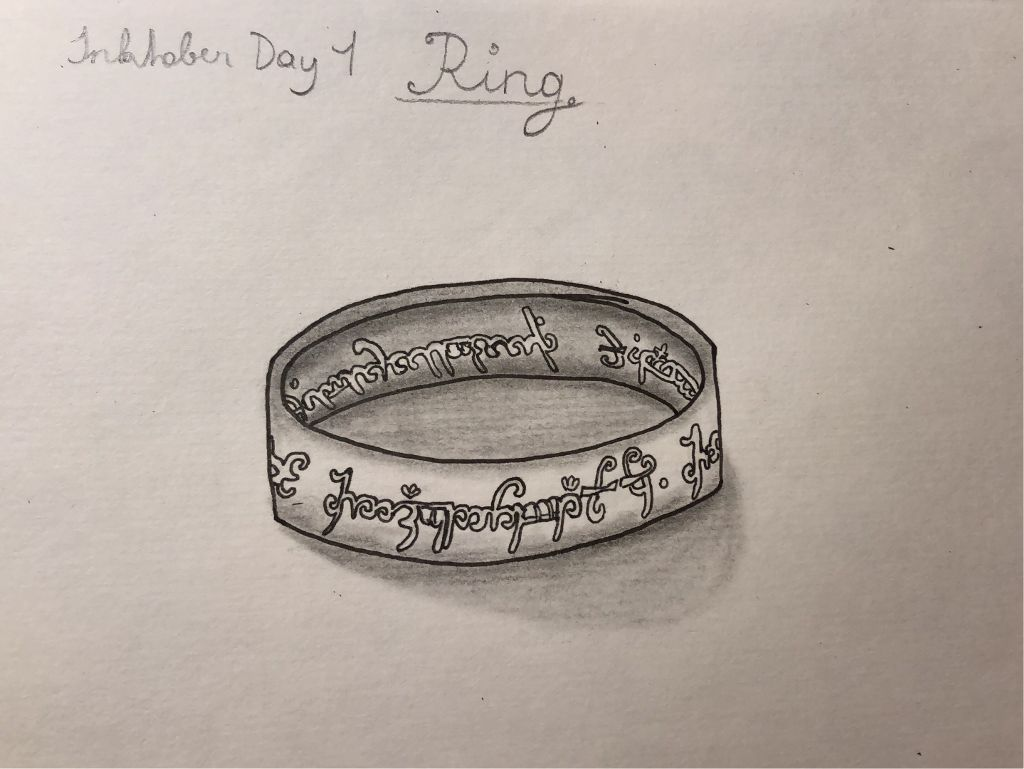 From Lord of the Rings: One Ring to rule them all #inktober #inktober2019 #ring #lotr #lordoftherings
