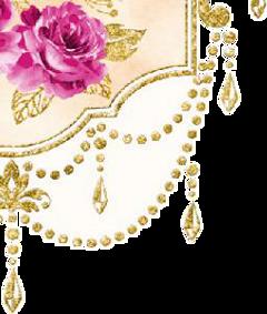 watercolor corner frame ornate decorative freetoedit