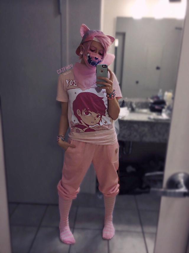 Fairy Kei Street Fashion Mew 🐱💕 instagram: cazfhey - #pink #pinkhair #pinkaesthetic #pinkboy #mew #gijinka #pokemon #prettyboy #catboy #nekoboy #kawaii #kawaiiboy #fairykei #pastelemo #animeboy #kawaiifashion #creepycute #streetstyle #jfashion #pastelmakeup #freetoedit