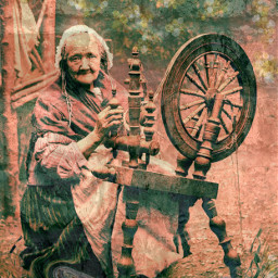 freetoedit remix colonial spinner oldlady