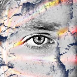 eye rainbow face halfface nose freetoedit