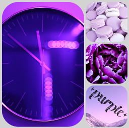 freetoedit purple clock mountians flower