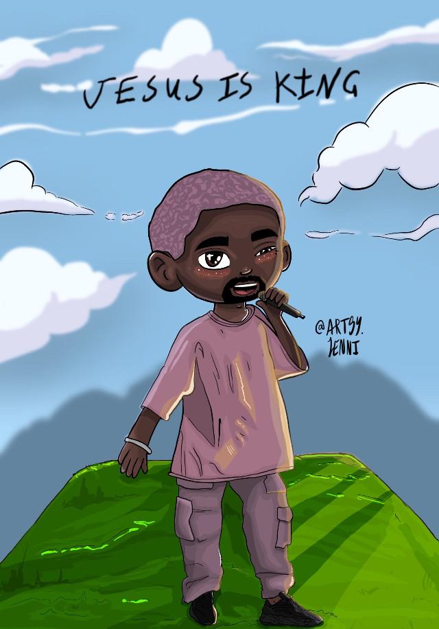 Kanye west 🙏🏽🌟 - Jesus is King  - App: Procreate 🌈 - Sunday service - I hope Jesus is king is coming soon 🙌🏼 - - - - #kanyewest #kanyesundayservice #kanyeweststyle #kanyeezy #yeezy #art #kanyewestalbum #jesusisking #kanyewestshoes #kanyewestconcert #ye #comic #arts #poster #procreator #procreate #ipadprocreate #freetoedit