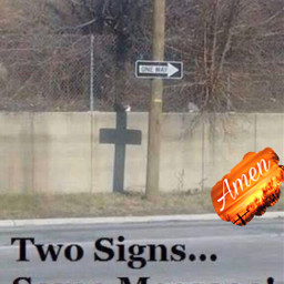 freetoedit cross oneway sign message