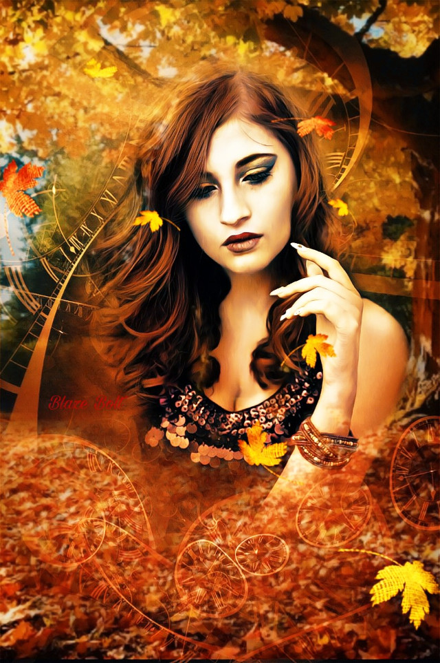 VOTE LINK: https://picsart.com/i/307834127122201?challenge_id=5d95db2cbe59e35b5d6ef1d7  #freetoedit #fall #autumn #leaves #trees #orange OP from Pixabay #clocks #time #srcautumncolors