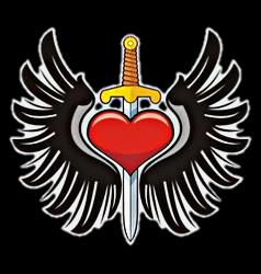 heart wings dagger knife love freetoedit