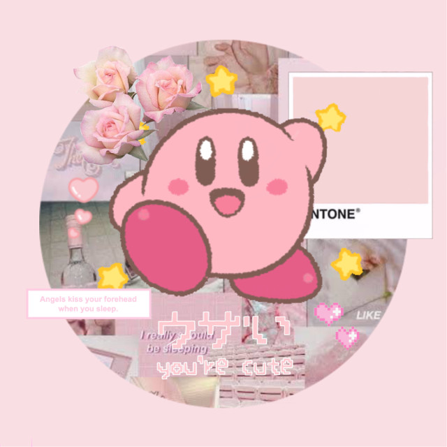 #softcore #kirby #pastelpink #softedit #freetoedit
