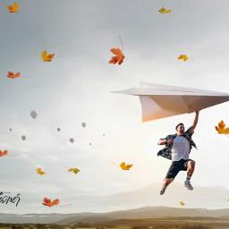 freetoedit srcautumncolors autumncolors man hotairballoons