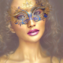 mascarade portrait freetoedit