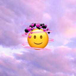 emojiart emojiedit wallpaper heartcrown swirl