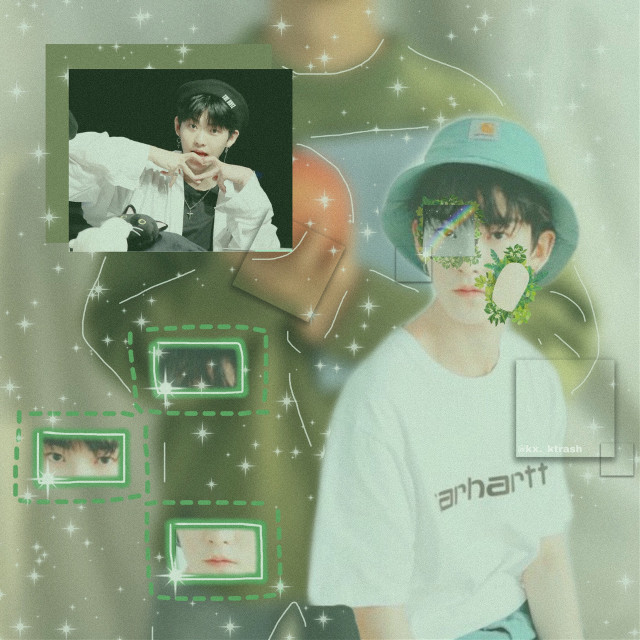 (Edit) ik hes left and honestly im so happy that he has taken time to put himself first and that his company let him as well. I hope he rests well and copes well and takes his time ❤️ #hwall #theboyz #theboyzhwall #green #greenaesthetic #greenpeace #theme #greentheme  #freetoedit