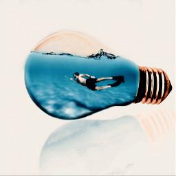 freetoedit bulb underwater fishtank lightbulb