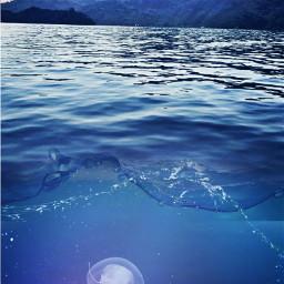 freetoedit jellyfish underthesearemix ocean sea