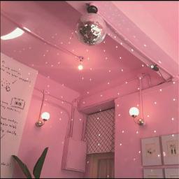 aesthetic pink lights room background freetoedit