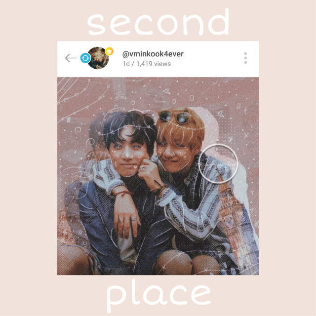 [SECOND PLACE]  so second place goes to @vminkook4ever 💕 Your edits are always beautiful, this one is also very beautiful, and you used taekook! One of my otp💖  Your prizes are: like spam, 5 repost, 3 request  #sweetshippalette #freetoedit