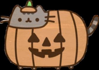 freetoedit pusheen halloween pumkin art