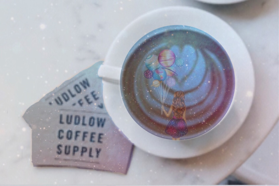 #freetoedit #galaxy #coffee #aesthetic #latteart #artistic