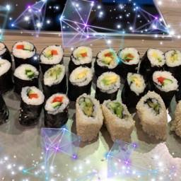 selfmade sushi sushiroll food freetoedit